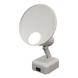 15X Lighted Magnifying Mirror Folding Makeup Mirror with 2 Light Modes, 6 1/2""