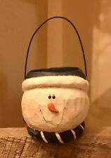 Eddie Walker * Midwest of Cannon Falls * Snowman Candle Holder