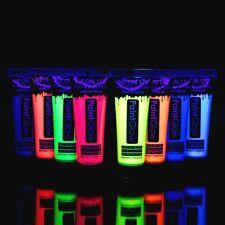 8 Colori Fluorescenti Neon Glow Fluo x Feste a Raggi UV Vernice Pelle Viso Corpo