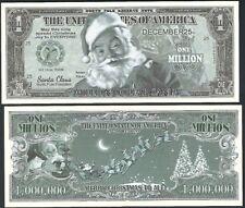 Traditional Santa Green Million Dollar Bill Collectible Funny Money Novelty Note