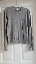 Abercrombie Kids classic v-neck long sleeve sweater light heather grey XL