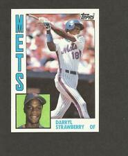 Darryl Strawberry Rookie Card 1984 Topps # 182 NY Mets RC 1984 Topps baseball