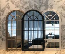 PRESALE Arch Timber Wall Mirror Hampton Provincial Window White Black Coastal