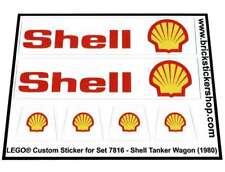 Lego® Custom Pre-Cut Sticker for Train 4,5V set 7816 - Shell Tanker Wagon (1980)