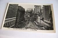 Rare Vintage RPPC Real Photo Postcard B2 New York Times Square Frange North View