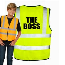 THE BOSS Hi vis vest for Kids Safety - Perfect Present for Children