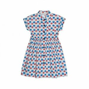 Bonpoint Giselle Dress In Liberty Print With Matching Hair Tie Age 4
