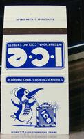 Vintage Matchbook Cover V6 Arlington Texas ICE Penguin International Cooling Exp