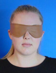 Echt Leder Augenmaske BDSM Maske Schlafmaske Augenbinde Braun ®leder-joe