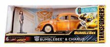 Jada 1/24, Bumblebee VW Beetle with Diecast Charlie Figure (Tv Film)