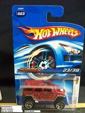 HOT WHEELS 2006 FE #23 -4 HUMMER BURG RED H2 BLAK CHRM SHOCKS 06CA NIB