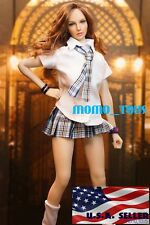 "1/6 Sexy Student Uniform Set C For 12"" Hot Toys PHICEN Female Figure Doll ❶USA❶"