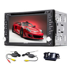BT Car Stereo DVD Player GPS Radio Vehicle capacitive Touchscreen Video PC+CAM