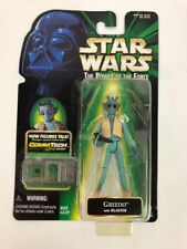 Star Wars POTF2/GREEDO Figure /Kenner 1996/Green HOLO Card MOC/COLLECTION 1