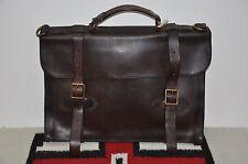 Ralph Lauren RRL Distressed Brown Leather Briefcase Messenger Bag