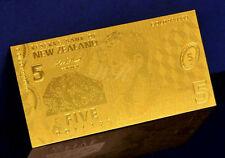 """★★ NOUVELLE ZELANDE / NEW ZEALAND : BILLET POLYMER  """" OR """" DU 5 DOLLARS ★★"""