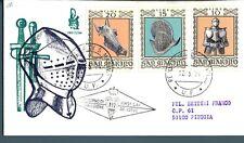 SAN MARINO - 1974 - Armature ed armi antiche su FDC Venetia