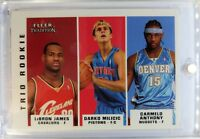 2003-04 Fleer Tradition Trio LeBron James Rookie RC #291 Milicic Carmelo Anthony