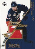 03-04 Upper Deck Nikolai Zherdev /99 Jersey Young Stars Rookie Update