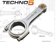 TECHNO5 Forged Steel Conrods Pleuel H-Beam Fiat Abarth Spider Twin Cam 1.8 8v