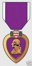 "PURPLE HEART MEDAL  MILITARY 6"" STICKER DECAL"