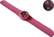 MONTRE ADULTE FEMME HOMME ICE BRACELET SILICONE SLAP / CLAP ROSE WATCH