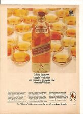 ORIGINAL VINTAGE 1967 JOHNNIE WALKER AUSTRALIAN COLOR ADVERT