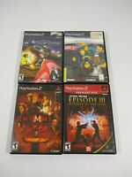 PS2 Games Lot Of 4 Matrix Path of Neo Star Wars Episode 3 Mummy Power Drome