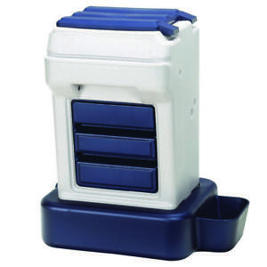 BERGAN 11713 Gray / Blue K-9 CAFE TRAY PACK PET FOOD DISPENSER GRAY / BLUE 26...