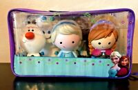 Disney Frozen 6 Pc & Case Bath Pool Water Toys Elsa Anna Olaf Sven Kristof-NWT