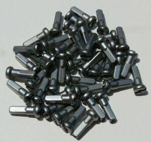 14mm GUN METAL GRAY Alloy Aluminum spoke nipple 14g (2.0mm) Custom amounts