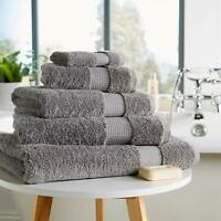 700gsm Luxe Bath Towels Thick Plush Cotton Bale Sets Grey White Silver Towelogy®