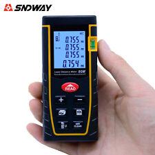 SNDWAY Laser Distance Meter Rangefinder 80M Trena Level Measure Tape Tester Tool