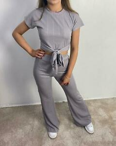 New 2 Piece Flared Lounge Wear With Tie In Belt , With FREE P&P.