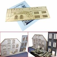 1/35 DIY European Urban Street Scenes Diorama Wooden Assembly Model Part Set New