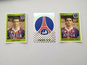 Vignettes Panini 1994 Equipe du Paris Saint Germain/ lot de 3 Vignettes