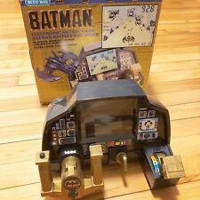 RARE 1989 Batman Battles Joker Electronic Arcade Dashboard w/ Box Vintage Game