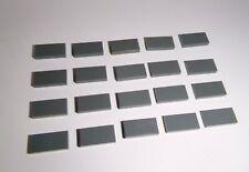 LEGO (3069) 20 Piastrelle 1x2, in grigio scuro da 7041 10251 10182 10211 10218 10185