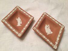 """Wedgwood jasperware """"terracotta� 2 pin trays."""