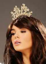 Gold Its My Birthday Metal Headband Tiara