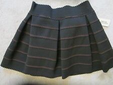 WOMENS FOREVER 21 BLACK TEXTURED BACK ZIP STRETCH SKIRT SIZE LARGE