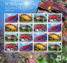 St Helena 2011 MNH Island Hogfish WWF 16v M/S Fish Fishes Stamps