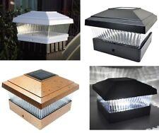 "4/8/12Pc White/Black/Copper 5""X5"" Solar LED Post Deck Cap Fence Light Lamp"