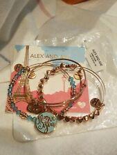 Alex And Ani I Love You Set Of 3 Bangle Bracelets Shiny Rose Gold NWT $98
