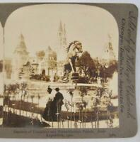 Stereoview Kelley & Chadwick Gardens Of Trocadero Paris Exposition 1900 Fair (O)