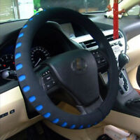 Black-Blue Eva Foam Sport Soft Auto Car Steering Wheel Cover Cap Anti-slip 38CM