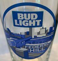 "Bud Light ""Federal Hill"" Baltimore MD 16 oz Tumbler Pint Glass (rare & unique)"