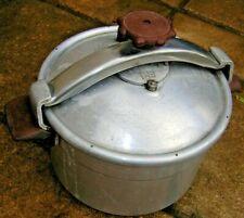 COCOTTE MINUTE ANCIENNE ALUMINIUM 8 litres poignées bakélite SEB breveté alu