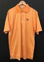 PETER MILLAR Men's Short Sleeve Golf Polo Shirt sz L Large Orange