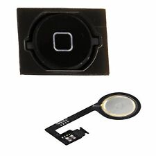 Home Button Flex Cable Rubber Gasket Assembly Menu Key For iphone 4S 4GS Black